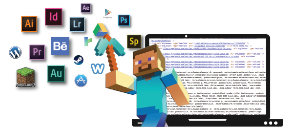 Minecraft Image with Adobe Products