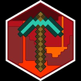 pixelated pickaxe from Minecraft